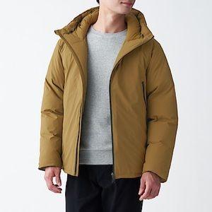 MUJI Men's Hooded Puffer Down Jacket